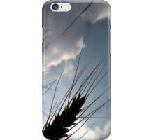 Barley in the sky with clouds iPhone Case/Skin
