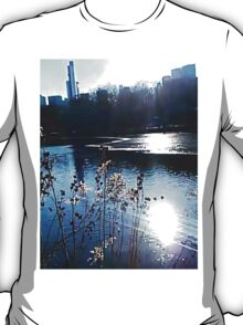 Central Park pond West, facing 59th Street, NYC, NY T-Shirt