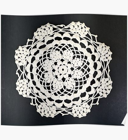 Embroidery doily Poster