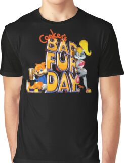 Conker's Bad Fur Day N64 Retro nintendo game fan shirt Graphic T-Shirt