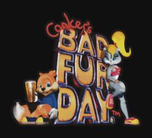 Conker's Bad Fur Day N64 Retro nintendo game fan shirt Kids Tee
