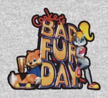Conker's Bad Fur Day N64 Retro nintendo game fan shirt One Piece - Short Sleeve