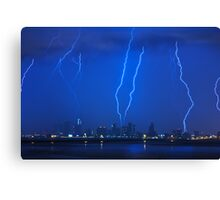 Lightning Over Miami Canvas Print