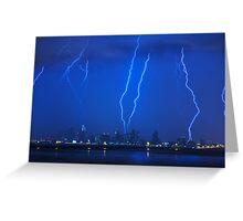 Lightning Over Miami Greeting Card