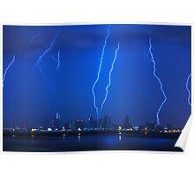 Lightning Over Miami Poster