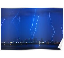 Lightning Over Miami Poster