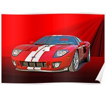 2011 Ford GT 'Seeing Red' Poster