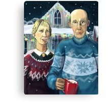 American winter - Grant Wood parody Canvas Print
