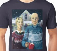 American winter - Grant Wood parody Unisex T-Shirt