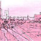 pink - huddersfield train station (2) by H J Field