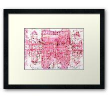 pink - manchester central Framed Print