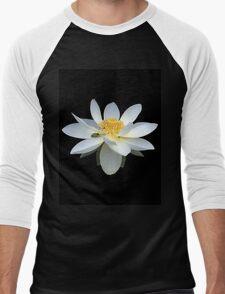 White Lotus Flower Frog and Native Bee Men's Baseball ¾ T-Shirt