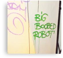 Big Boobed Robot. Canvas Print