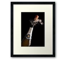 Celebration Theme With Exploding Champagne Framed Print