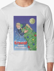 Ernest (Hemingway) Saves Christmas Long Sleeve T-Shirt