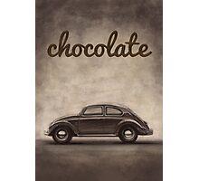Chocolate - Volkswagen Beetle - Vintage VW Bug Photographic Print