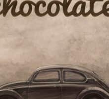 Chocolate - Volkswagen Beetle - Vintage VW Bug Sticker