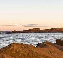 Hopeman's Daisy Rock Sundown.  by JASPERIMAGE