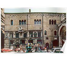 Scaligeri palace beside civic centre Palazzo del Capitano Verona Italy 19840419 0041  Poster