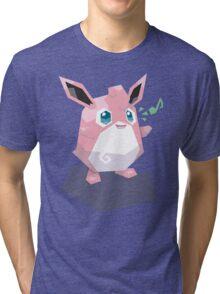 Cutout Wigglytuff Tri-blend T-Shirt
