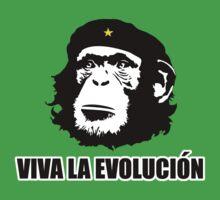 Viva La Evolucion Funny Chimp Che Kids Tee