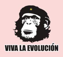Viva La Evolucion Funny Chimp Che One Piece - Long Sleeve