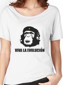 Viva La Evolucion Funny Chimp Che Women's Relaxed Fit T-Shirt