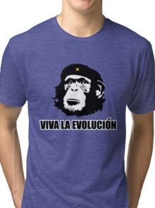 Viva La Evolucion Funny Chimp Che Tri-blend T-Shirt