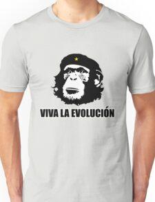 Viva La Evolucion Funny Chimp Che Unisex T-Shirt