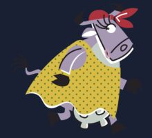 Cool Cow In The Run!!!! Kids Clothes