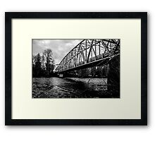 Steel Bridge Over The Skagit River Framed Print