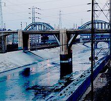 Under the Bridge Downtown Los Angeles by Nalinne Jones