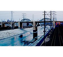 Under the Bridge Downtown Los Angeles Photographic Print
