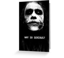 The Joker. Greeting Card