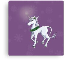 Holly Unicorn Canvas Print