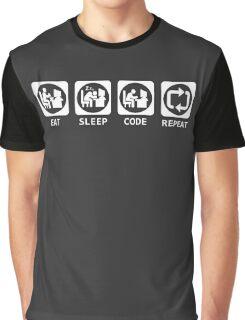 Eat Sleep Code Repeat T-shirt & Hoodie Graphic T-Shirt