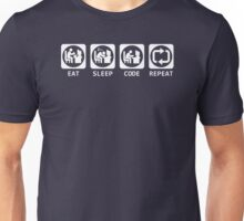 Eat Sleep Code Repeat T-shirt & Hoodie Unisex T-Shirt