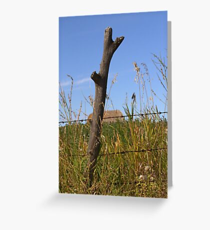 Forked Fence Post Greeting Card