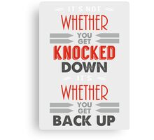 Knocked down... Canvas Print