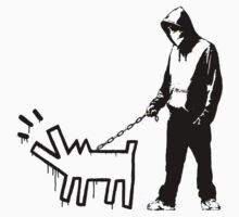 Haring Dog- Banksy by crawford93
