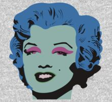 Blue Marilyn Monroe One Piece - Short Sleeve