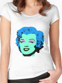 Blue Marilyn Monroe Women's Fitted Scoop T-Shirt