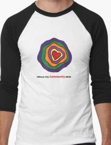 Hillman City community heart Men's Baseball ¾ T-Shirt