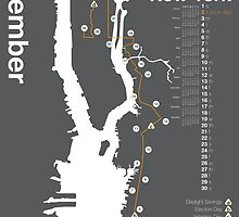 New York City Marathon Map 2014 by skiermarc127
