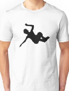 Aggressive inline skating jump silhouette Unisex T-Shirt