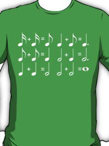 Music Math WHITE T-Shirt