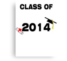 Class of 2014 #2 BLACK Canvas Print
