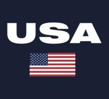 USA Horizontal WHITE Kids Clothes