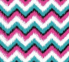 Colorful Ikat Chevron Pattern by cikedo
