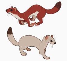 weasel stickers by kitestrings